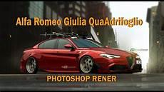 Alfa Romeo Giulia Tuning Photoshop Render