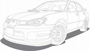 Line Drawing Vehicle Car Vector Free In Adobe