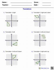 translation worksheet geometry worksheets transformations worksheets