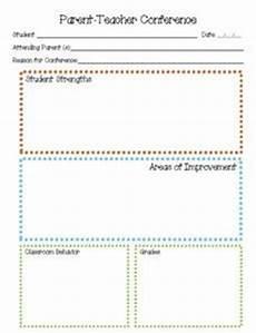 parent teacher conference printables template for pre k 6th grade lesson planet