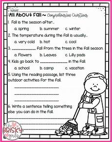 seasons worksheets for grade 4 14737 the four seasons reading passages take home packet reading passages autumn activities for