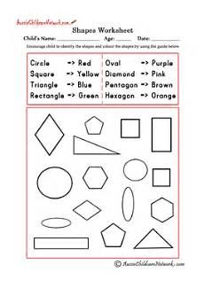 worksheets colors and shapes 12704 colour shapes using the colours guide aussie childcare network