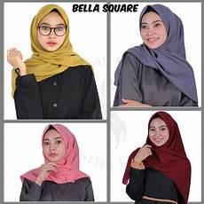 Model Jilbab Segi Empat Yang Simple Voal Motif