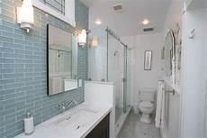 15 beautiful glass bathroom tile designs