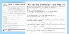 addition and subtraction word problems worksheets grade 3 9210 addition and subtraction word problems worksheet year 3