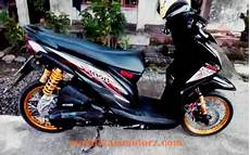 Modifikasi Beat Fi 2018 by Motor Beat Fi Modifikasi Standar Warna Hitam