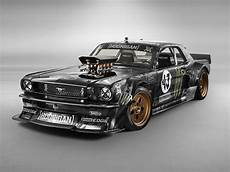 ken block s wildly modded 65 mustang puts out a