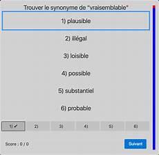 test des synonymes