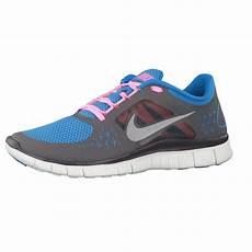nike free run 3 barefoot grey blue pink running trainers