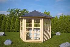 6 eck gartenpavillon seattle s 6m 178 3 x 3m 55mm hansa