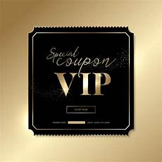 vip name card template golden vip invitation card template vector 02 vector