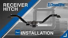 how to install a receiver trailer hitch draw tite 174 youtube