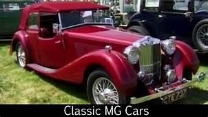Classic MG Cars  YouTube