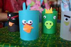 pink and green toilet paper craft