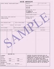 cargo receipt template dock receipt freight document