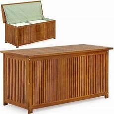 kiste für auflagen auflagenbox holztruhe 117cm kissenbox gartenbox