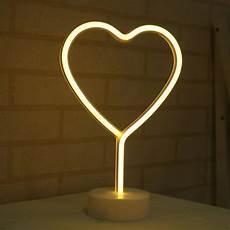 muqgew marquee led night light bedroom heart home decor
