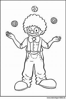 Malvorlagen Bilder Ausmalbild Clown Jongliert B 228 Lle