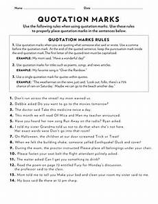 grammar worksheets using quotation marks 24941 quotation marks worksheet education