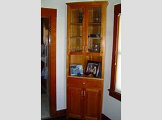 Furniture: Endearing Corner China Hutch With Glass Window
