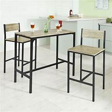 Sobuy 174 Ensemble Table De Bar 2 Chaises Table Haute Cuisine