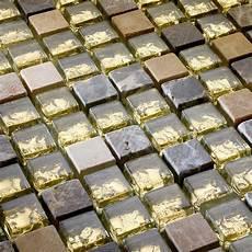 glas mosaik fliesen mit marmor gold naturstein