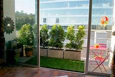 Balcony Privacy Protection Ideas With Wood Plants And