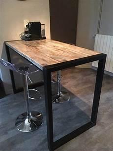 table standing eat industrial style metal wood en 2019