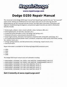 service manual car manuals free online 1993 dodge d250 engine control 1993 dodge ram truck dodge d250 repair manual 1990 1993