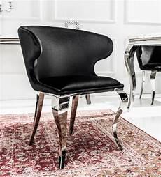 stuhl modern eleganter stuhl modern barock ii schwarz samt