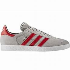 adidas originals gazelle sneaker herren schuhe grau rot