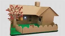 Building Cardboard House Garden Villa House