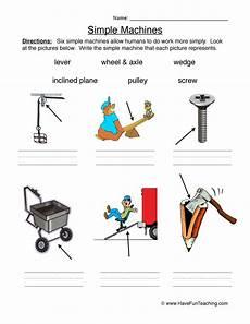 identify simple machines worksheet have fun teaching