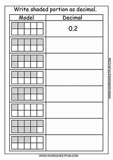 decimal hundredths worksheet 7154 decimal model tenths 2 worksheets free printable worksheets worksheetfun
