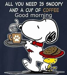 Snoopy A Cup Of Coffee And Morning Pictures Photos