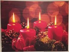 led weihnachtsbild adventskranz mit 4 lichtern led bild