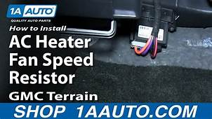 How To Install Replace AC Heater Fan Speed Resistor GMC