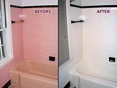 Bathroom Tile Paint Ideas Painting Bathroom Tiles Picture Pink Tub Tile