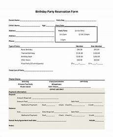 sle booking form children s party booking form template unique birthday party ideas and themes
