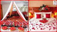 romantic wedding marriage room decoration ideas bridal first night bedroom decorations 2018