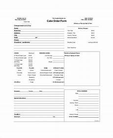cake order receipt template sle free printable order form 9 exles in word pdf
