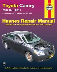 old car manuals online 2009 toyota camry hybrid lane departure warning toyota camry and avalon lexus es 350 haynes repair manual 2007 2011 hay92009