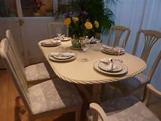 esstisch shabby look shabby chic extending dining table with 6 chairs painted