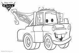 Coloring Pages Of Cars Pixar Tow Mater  Free Printable