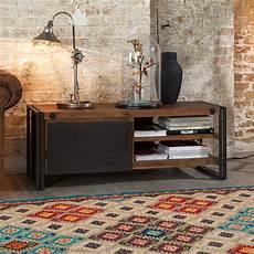 industrial chic möbel lowboard manchester akazie massiv metall furnlab