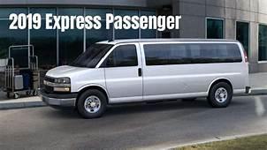 All New 2019 Chevrolet Express Passenger Van For 12 – 15
