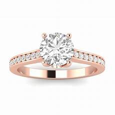 3 4ctw diamond engagement ring in 10k rose gold walmart com