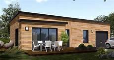 Maison En Bois Avec Toiture Terrasse Prefab Houses En
