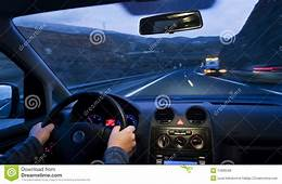 Inside Car View Stock Image Of Motion Accelerated