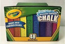 crayola 48ct washable sidewalk chalk assorted bright